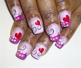 valentine hearts xo