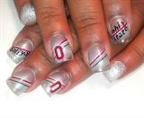Ohio state nails