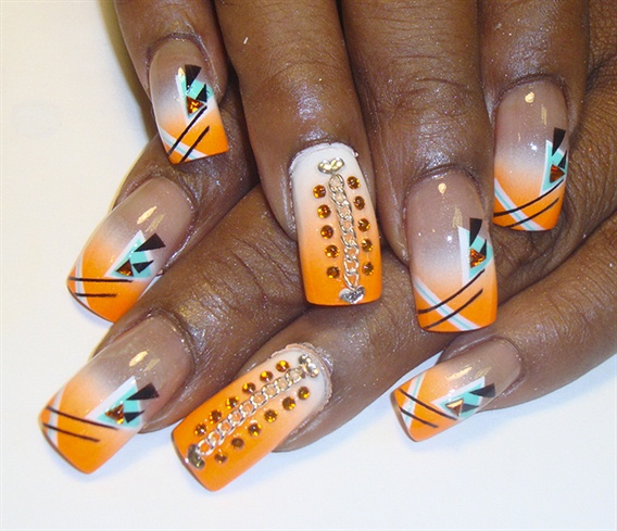bright orange abstrct