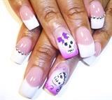 pink n white n skulls