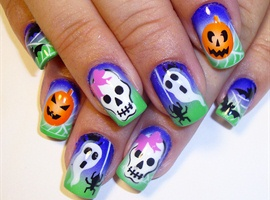 colorful halloween