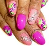pink love nailart