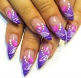 purple petal points