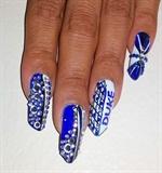 Duke finals nail art