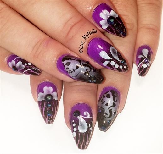 october purple n black