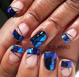 blue glass french tips