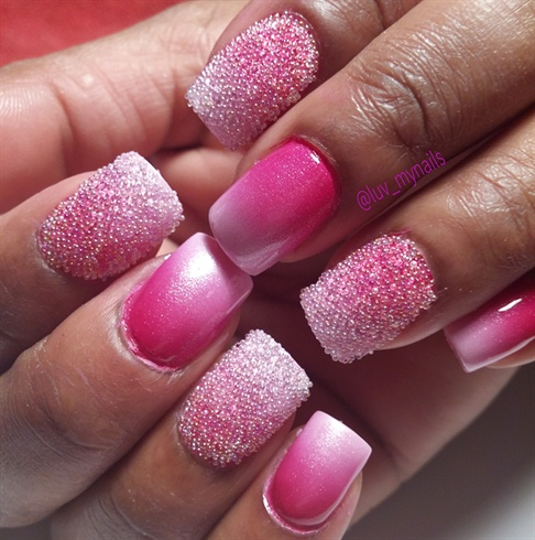 caviar with pink ombre