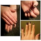 Nail Art: Black lace nails!