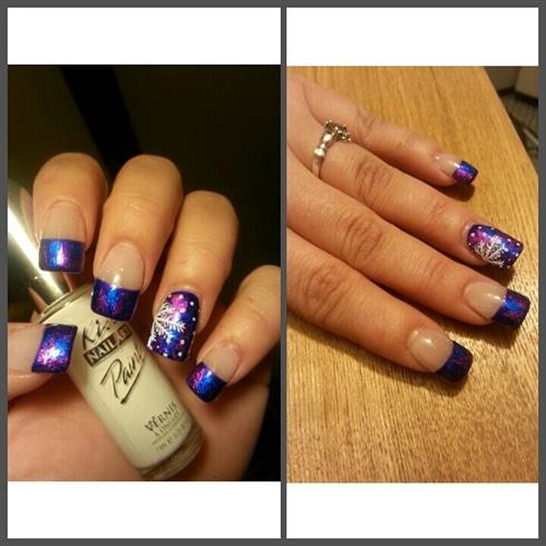 Winter nails: Foil design!