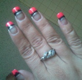 Needle drag nail art!