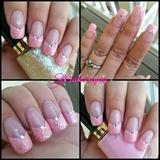 Pink glitter nails!