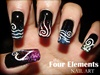 the Four Elements nail art