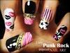 Girly Punk Rock inspired nail art