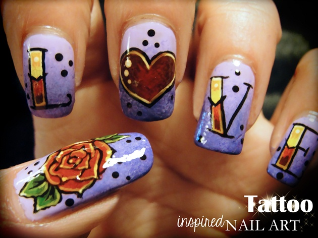 Tattoo Inspired Nail Art Nail Art Gallery
