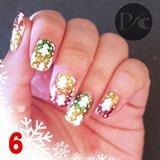 White Christmas Trees on glitter