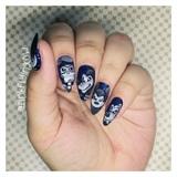 Zombie Disney Halloween nail art