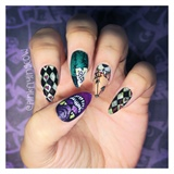 Halloween in Wonderland nail art