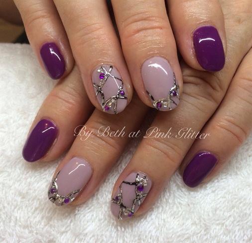 Purple Embossing