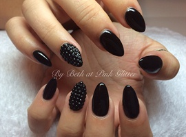 Black Almonds with studs