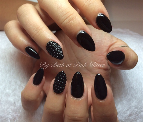 Black Almonds with studs