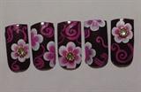 rhinestones pink flower