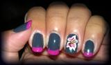 Grey & Pink Lily: Zoya Kelly polish