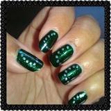 emerald sparkle embellished