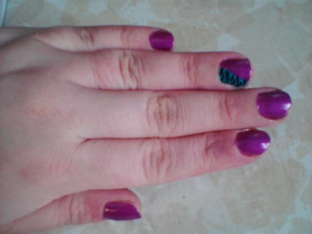 Purple & Green Zebra