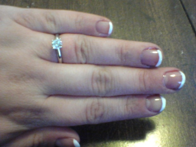 Simple French on Short Nails