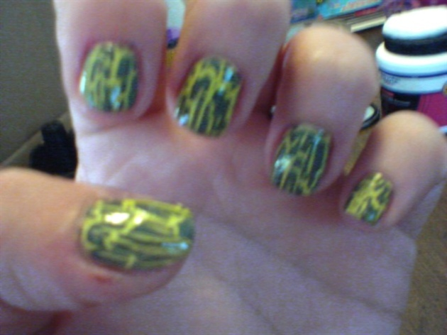 Yellow With Grey Crackle