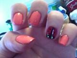 Orange & a LadyBug