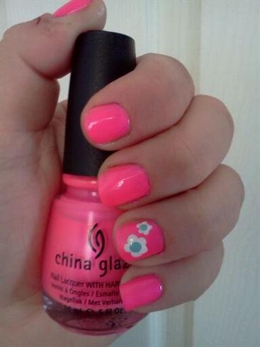 Neon Pink & Flowers