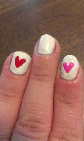 Valentines Hearts Nails