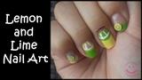 Lemon and Lime Nail Art