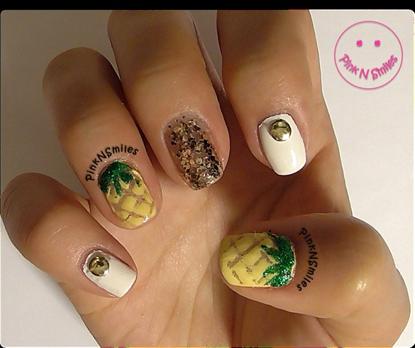 Pineapple nails nail art gallery pineapple nails prinsesfo Image collections
