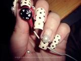 Japanese Hime Nails WHite & Golden