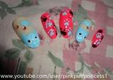 Cute Pink Kitty Nails