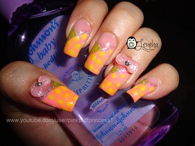 Cute Pastel Polka Dots Nail Art