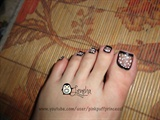Black Sheer Toe Nail Art
