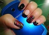 Mosaic Glitter Nail Art