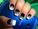 Monotone Marbling Nails
