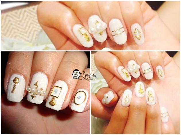 White Japanese Nails