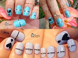 Broken Heart Nail Art
