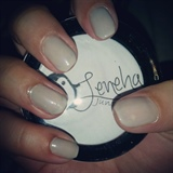 NUDE PASTEL GREY GEL NAILS