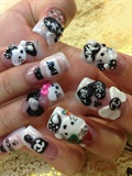 Black & White Hello Kitty w/ Chanel