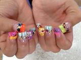 rainbow bling w/ rainbow colors