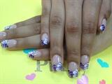 Purple & white flower tips