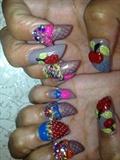 3D fruit nails