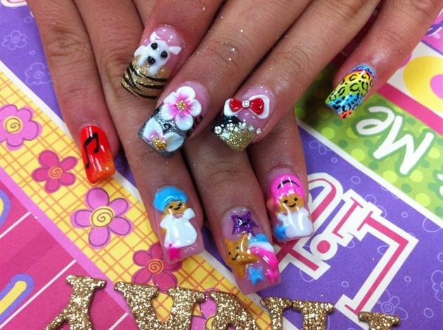 Random 3D nails