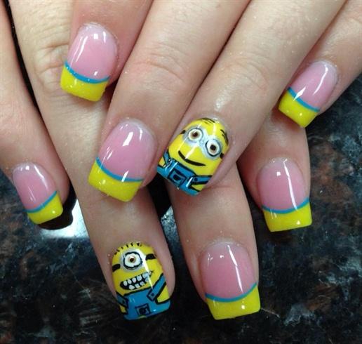 Minion nail design - Minion Nail Design - Nail Art Gallery